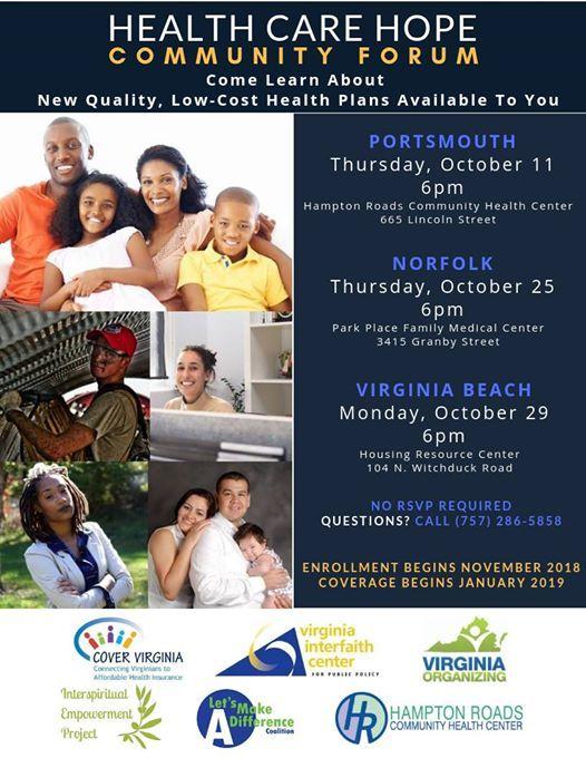Virginia Beach Health Care Hope Community Forum | Virginia Beach