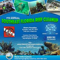 7th Annual Southeast Florida Reef Cleanup - Divers Paradise 7.30