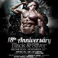 18th Year Anniversary Party (Black &amp Silver)  Club Evolution