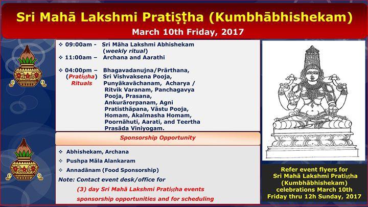 Sri Maha Lakshmi Pratishtha (Kumbhabhishekam) - Day 1 at