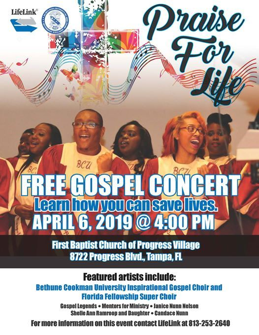 Praise for Life: a Free gospel concert at First Baptist Church of