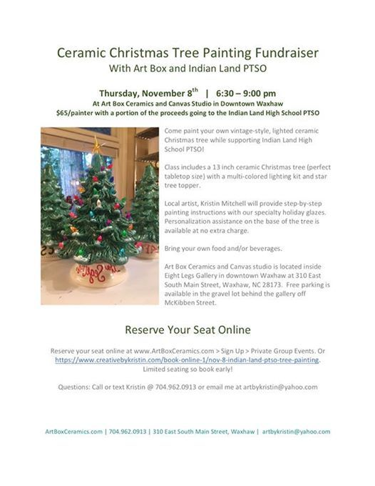 Ceramic Christmas Tree Painting Fundraiser At Art Box Ceramics And