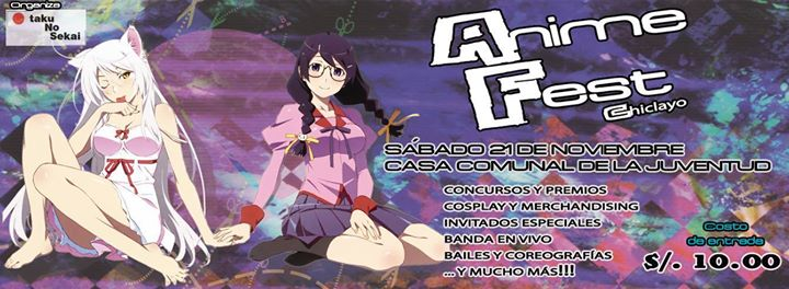Se cancela Animefest Chiclayo