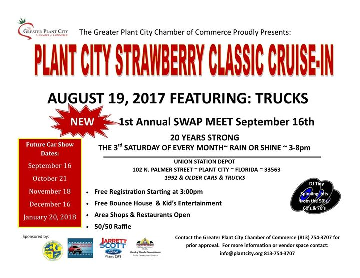 Strawberry Classic CruiseIn At N Palmer St Plant City FL - Plant city car show 2018