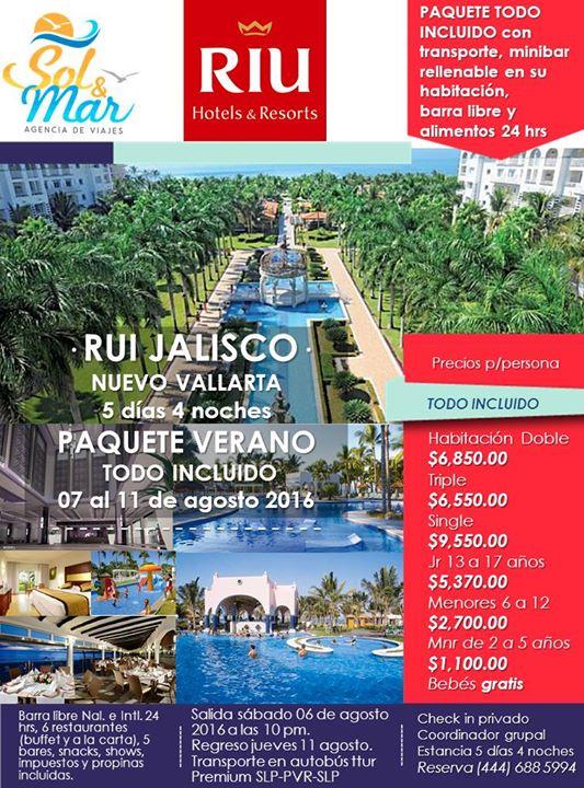 Paquete todo incluido verano agosto en nuevo vallarta for Habitacion familiar hotel riu vallarta