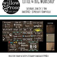 Little &amp Big Sign-Making Workshop