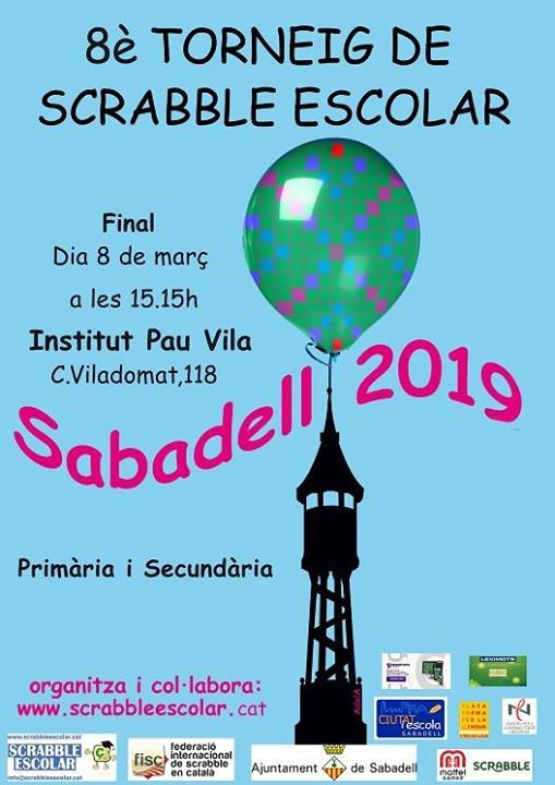 Sabadell final prvia de Scrabble Escolar 2019