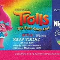 Trolls The beat goes on Kids Night Out Color Me Mine Vaughan