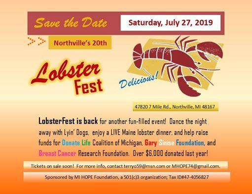 LobsterFest 2019 at 47820 7 Mile Rd, Northville, MI 48167 ...