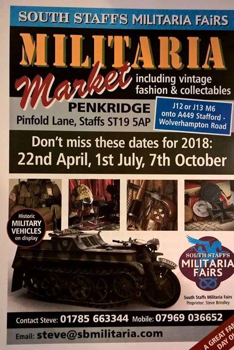 Militaria Fair 22nd April
