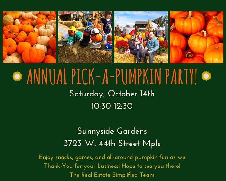 Pick A Pumpkin Party