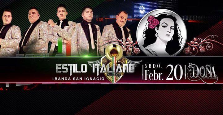 fe24ac8e3 ESTILO ITALIANO + BANDA SAN IGNACIO EN LA DOÑA ANTRO   BANDA... at ...