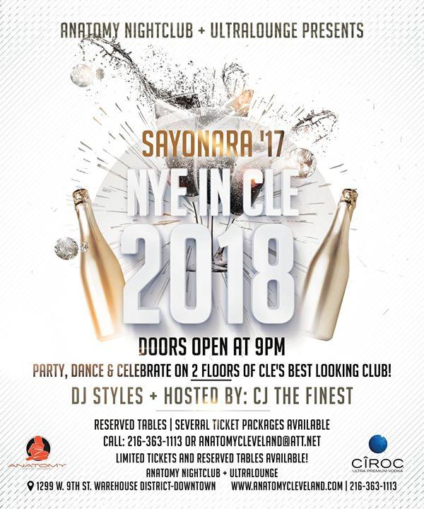 Sayonara 17 New Years Eve Party At Anatomy Cleveland