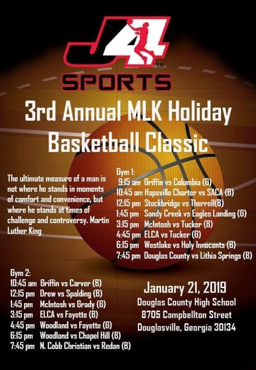 The 3rd Annual J-4 Sports MLK Holiday Basketball Classic at Douglas County High School ...