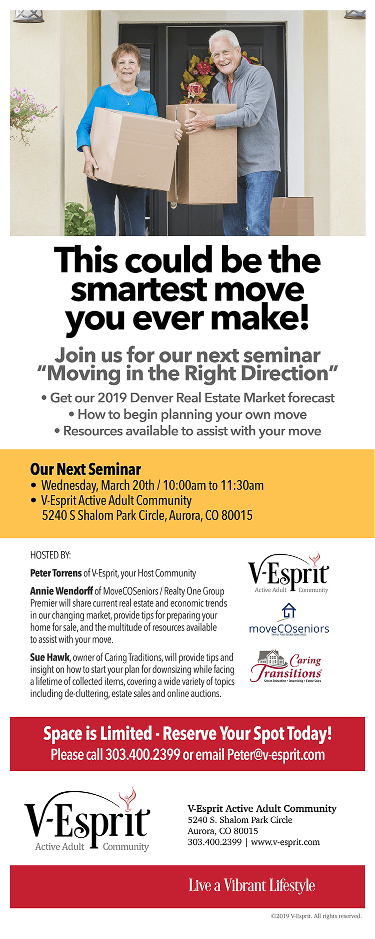 Informational Seminar on Downsizing and a 2019 Real Estate