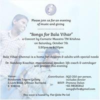 Songs for Bala Vihar