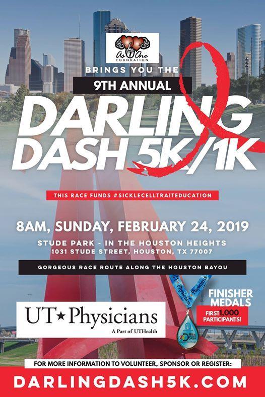 9th Annual Darling Dash 5k1k Race for SickleCellTraitEducation
