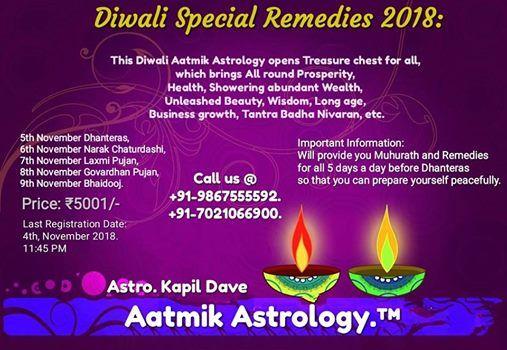 Diwali Special Remedies 2018 at Vile parle east, Mumbai