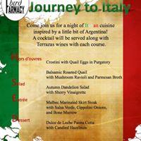 Terrazas Italian Wine dinner