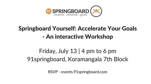 Springboard yourself Accelerate your Goals