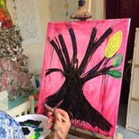Late Summer Tree GoddessGreenman Painting Journey