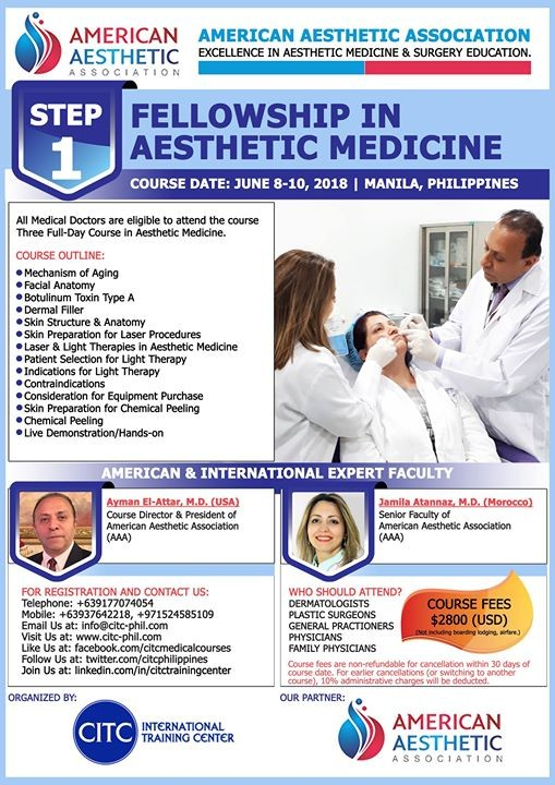 Step 1: Fellowship in Aesthetic Medicine at CITC International