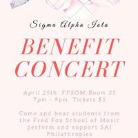 Sigma Alpha Iota Benefit Concert