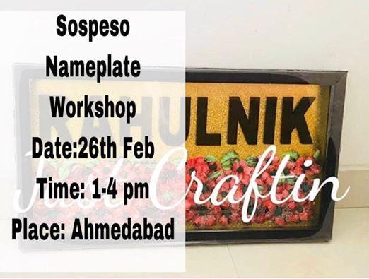 Sospeso Nameplate Workshop
