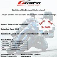 Gusto Racing Training School - June 2017