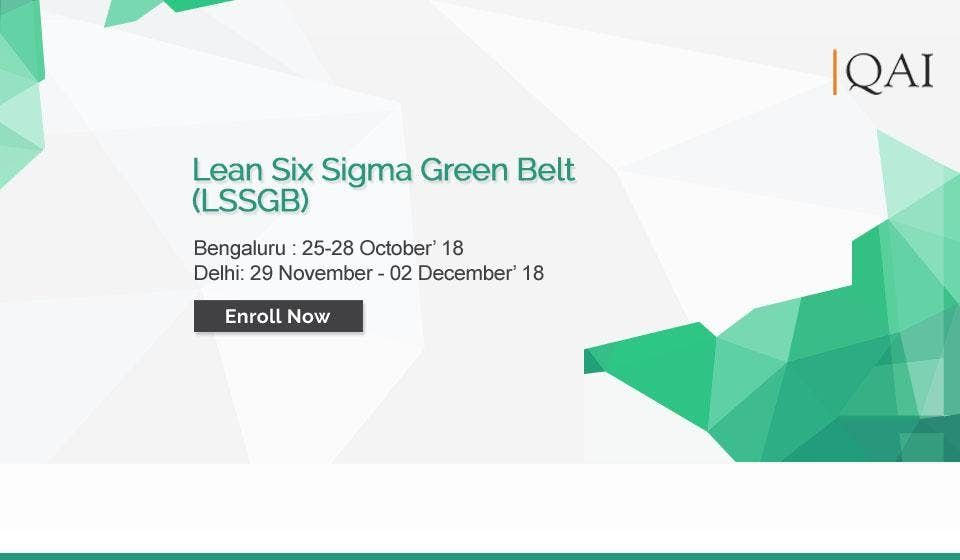 Lean Six Sigma Green Belt Certification At Bengaluru Bengaluru