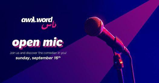 awk.word.ness - Open Mic Comedy Night
