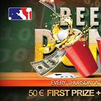 BEER PONG League  at Ibex Bar  1st prize 50