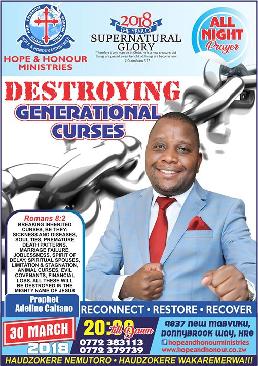Generational Curse Destruction All Night Prayer at Hope and Honour