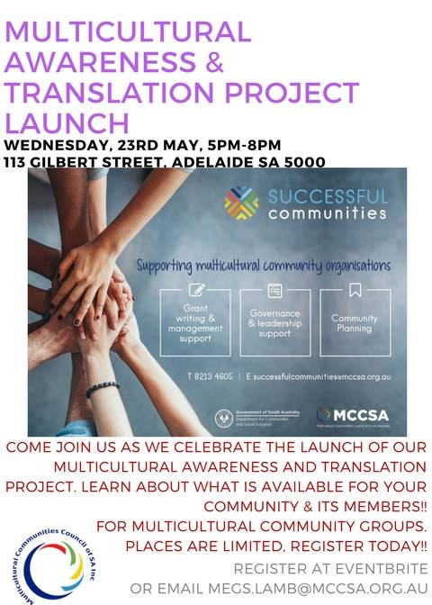 Multicultural Mental Health Awareness & Translation Launch Event