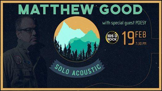 Matthew Good - Solo Acoustic