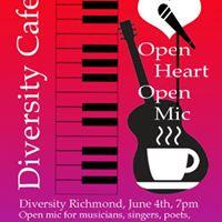 Diversity Cafe - Open Heart Open Mic
