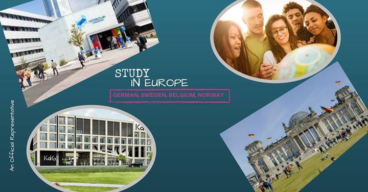 Study in Europe (German Sweden Norway Belgium)