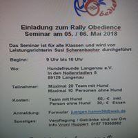Rally Obedience mit Leistungsrichterin Susi Scherenbacher