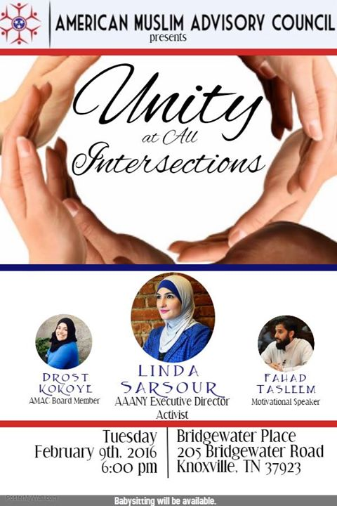 AMAC presents Unity at All Intersections with Linda Sarsour