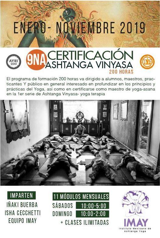 Bienvenida 9na Certificación 200 Hrs Ashtanga Vinyasa Yoga