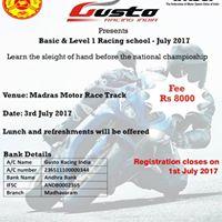 Gusto Racing School Basic & Level 1-July 2017
