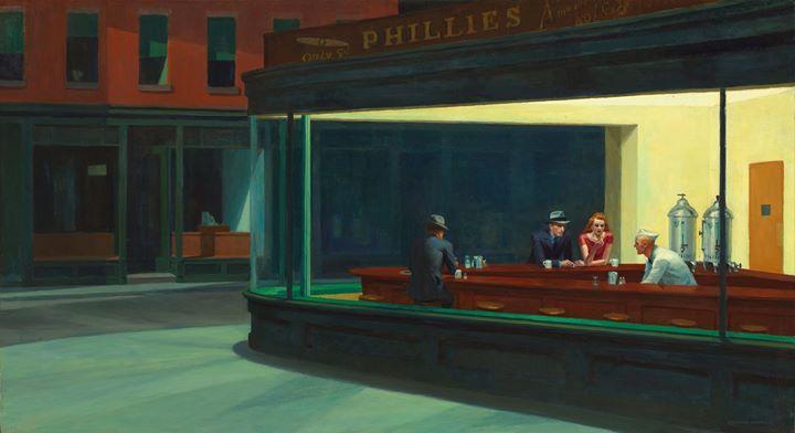 Matinale Vu pas Vu au Negresco  Edward Hopper