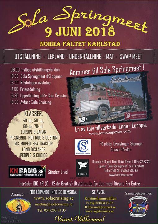 50 år tal gratis Sola Springmeet Karlstad 9:e juni 2018 at Karlstad, Karlstad 50 år tal gratis
