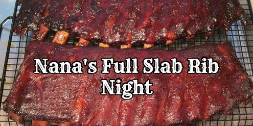 Naples Restaurant - Happy Hour - Nanas Full Slab Rib Night