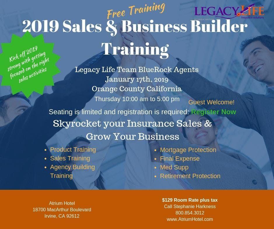 2019 Life Insurance Sales & Business Builder Training