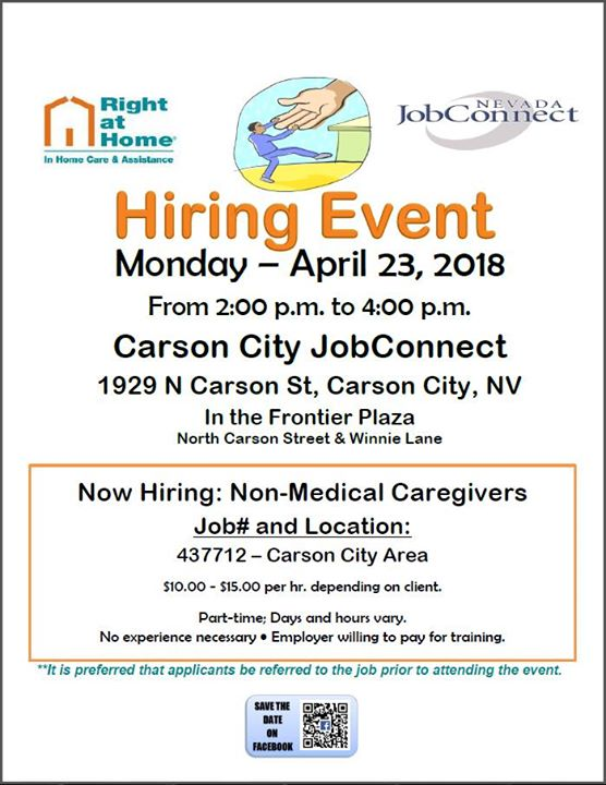 Hiring Event Right At Home Carson City