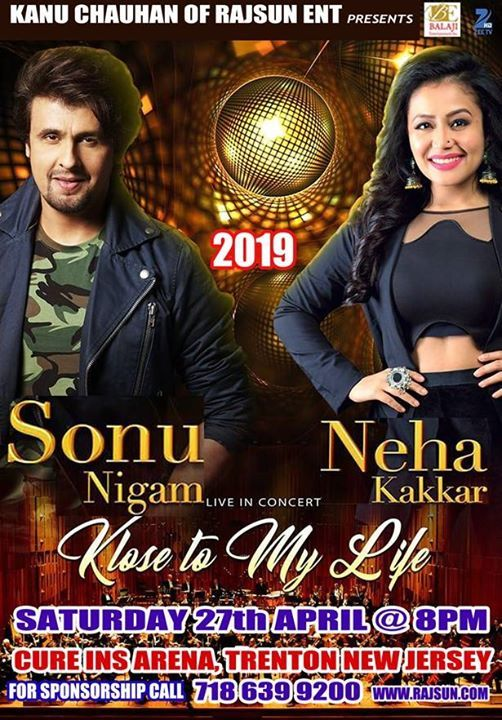 New Jersey : Sonu Nigam with Neha Kakkar Live in Concert at