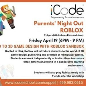 Parents Night Out: Roblox Game Night at iCode - Coppell, Coppell