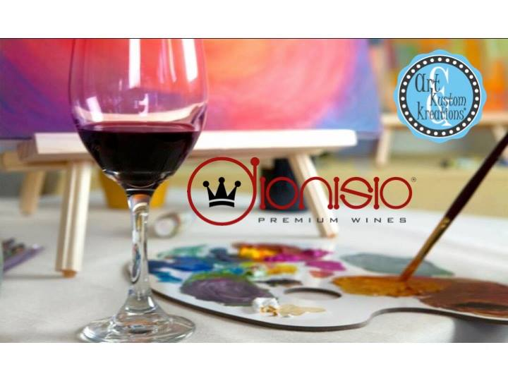 Paint sip at dionisio winery pearland for Sip and paint houston