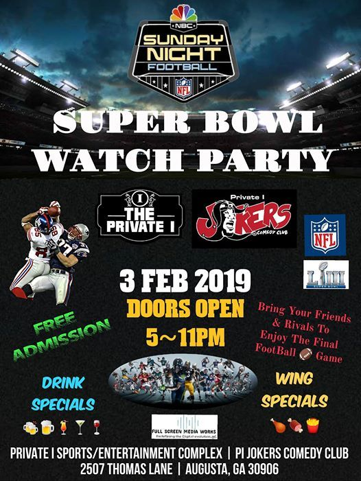 Super Bowl Party inside the Private I